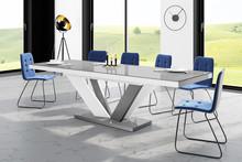 Stół VIVA 2 - wysoki połysk/szaro-biały/nogi mieszane