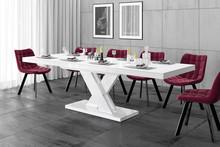 Stół rozkładany XENON LUX - wysoki połysk/biały