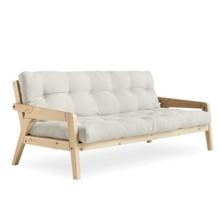 Sofa rozkładana GRAB - naturalna rama