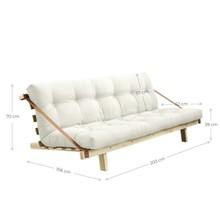 Sofa rozkładana JUMP - naturalna rama
