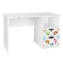 Biurko dziecięce z szufladami AMILA 46 - sowy/biały