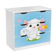 Komoda z szufladami AMILA 10 - kotek/niebieski