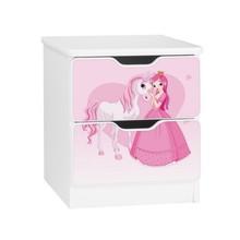 Szafka nocna z szufladami AMILA 9 - księżniczka z sercem