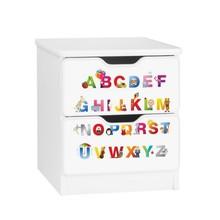 Szafka nocna z szufladami AMILA 15 - ABC białe