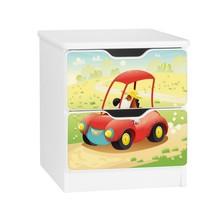 Szafka nocna z szufladami AMILA 22 - piesek w autku
