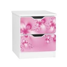 Szafka nocna z szufladami AMILA 24 - kwiaty