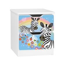 Szafka nocna z szufladami AMILA 47 - zebra