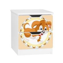 Szafka nocna z szufladami AMILA 51 - brązowy piesek
