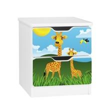 Szafka nocna z szufladami AMILA 59 - żyrafy