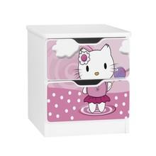 Szafka nocna z szufladami AMILA 62 - pink kitten