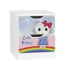 Szafka nocna z szufladami AMILA 63 - cute kitten