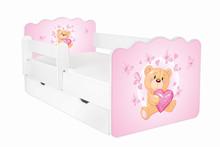 Łóżko dziecięce z szufladą i barierką ALEX 23 - misiu