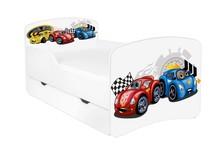 Łóżko dziecięce z szufladą DORA 2 - autka