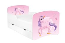 Łóżko dziecięce z szufladą DORA 8 - jednorożec