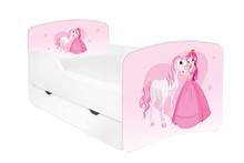 Łóżko dziecięce z szufladą DORA 9 - księżniczka z sercem