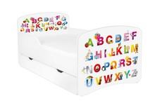Łóżko dziecięce z szufladą DORA 15 - ABC białe