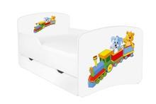 Łóżko dziecięce z szufladą DORA 19 - ciuchcia