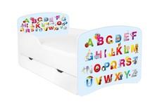 Łóżko dziecięce z szufladą DORA 21 - ABC niebieskie