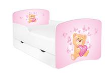 Łóżko dziecięce z szufladą DORA 23 - misiu