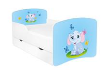 Łóżko dziecięce z szufladą DORA 25 - słonik