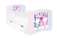 Łóżko dziecięce z szufladą DORA 27 - kociaki