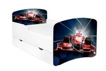 Łóżko dziecięce z szufladą DORA 35 - wyścigówka
