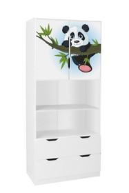 Regał wysoki z drzwiami AMILA 4 - panda