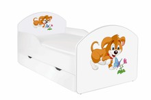 Łóżko dziecięce z szufladą MAJA 45 - piesek
