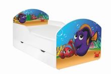 Łóżko dziecięce z szufladą MAJA 66 - rybki