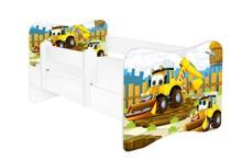 Łóżko dziecięce z barierką LEON 38 - koparka