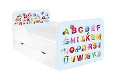 Łóżko dziecięce z szufladą ZUZA 21 - ABC niebieskie