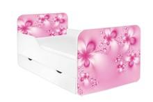 Łóżko dziecięce z szufladą ZUZA 24 - kwiaty