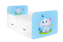 Łóżko dziecięce z szufladą ZUZA 25 - słonik
