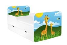 Łóżko dziecięce z szufladą ZUZA 59 - żyrafy