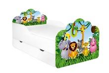 Łóżko dziecięce z szufladą POLA - różne wzory