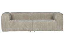 Sofa BEAN RIB 3,5 natural - jasny szary