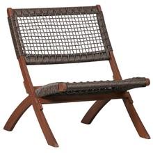 Krzesło składane LOIS - ciemny brązowy