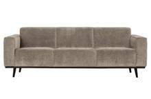 Sofa 3-osobowa STATEMENT RIB - gliniany
