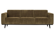 Sofa 3-osobowa STATEMENT RIB rock - ciepły brązowy