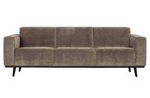 Sofa 3-osobowa STATEMENT RIB taupe - chłodny brązowy