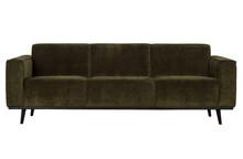 Sofa 3-osobowa STATEMENT RIB - zielony
