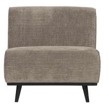 Fotel bez podłokietników STATEMENT RIB - gliniany