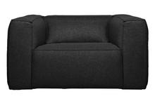 Fotel z poduszką BEAN dark grey - ciemny szary
