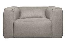 Fotel z poduszką BEAN light grey - jasny szary