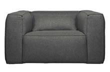 Fotel z poduszką BEAN mid grey - szary