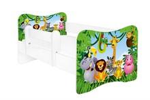 Łóżko dziecięce z barierką LEON - różne wzory