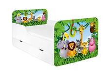 Łóżko dziecięce z szufladą ZUZA - różne wzory