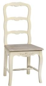 Krzesło rzeźbione RIMINI 028 - kremowy