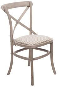 Krzesło drewniane tapicerowane VENEZIA 885AK - beżowy
