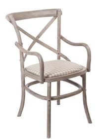 Krzesło drewniane z podłokietnikami VENEZIA 885BK - beżowy